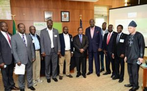 Some participants at NiDICT 2015 with His Excellency (Prof.) AdebowaleIbidapoAdefuye, Nigeria's Ambassador to the USA.