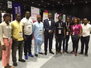 Director General of NITDA, Dr Isa Ibrahim Pantami, Director of Corporate Strategies and Research and some Nigerian startups at the ongoing GITEX 2016 in Dubai, UAE.