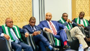L-R: Mr. Chijioke Eke, Chairman and Co-founder of Sidmach Technologies Nigeria Limited; Mr. Collins Onuegbu, founder of Sasware Limited; Mr. Ezekiel Egboye, Chief Operations Officer at Rack Centre; Mr. Yele Okeremi founder/CEO of Precise Financial Systems Limited; and Mr. Deremi Atanda, Executive Director at SystemSpecs Limited.