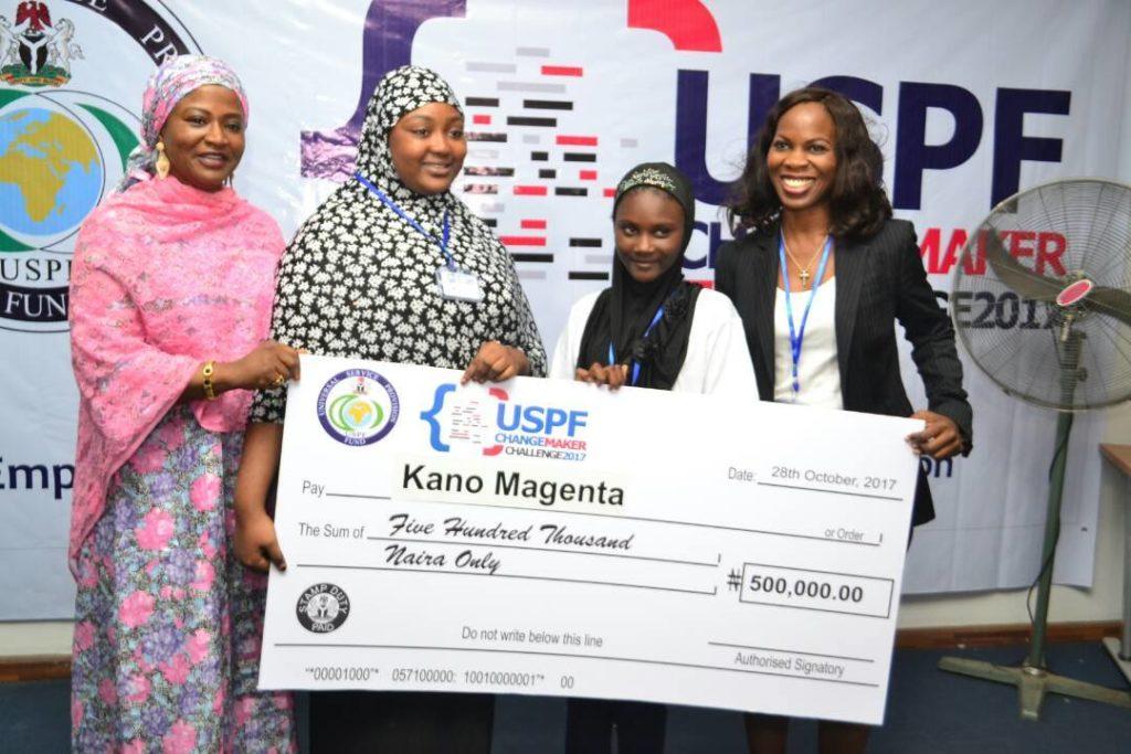 Team Kano Magenta with Ag Head of the OIIE Dr Amina Sambo