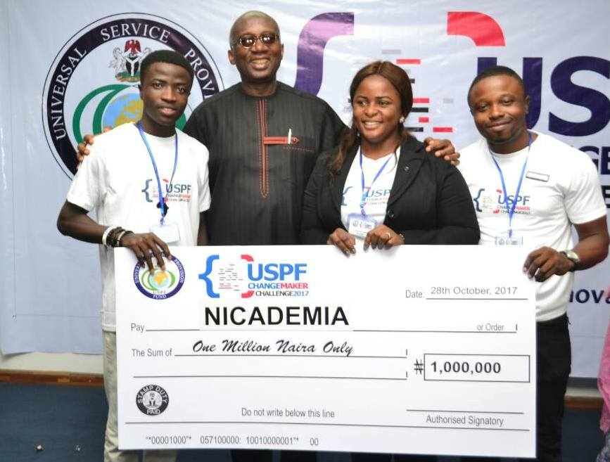 Team Nicademia with Dr. Ernest Ndukwe, a former Executive Vice Chairman of the Nigerian Communication Commission (NCC)