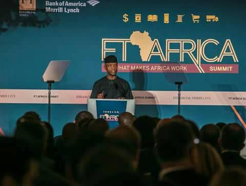 Yemi Osinbajo at Financial Times Africa Summit in London