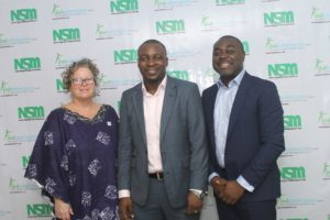 L-R: Mrs Karen Perez, Findadmission Visa Counselor for Canada; FolabiObembe, Founder of WorldView International - The Company behind Findadmission; Akin Naphtal, CEO, InstinctWave.