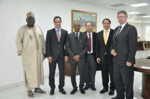 NADDC and Nissan team at the NIssan's Lagos plant