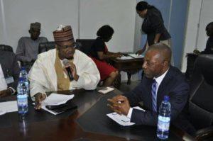 Dr. Isa Ali Ibrahim Pantami and Mr. Anthony Ayine