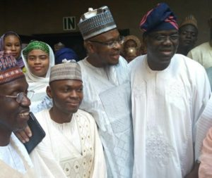 DG/CEO of NITDA with the chairman of the agency's governing board and other members