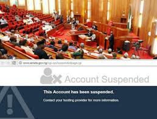 Nigerian Senate website suspended by host company