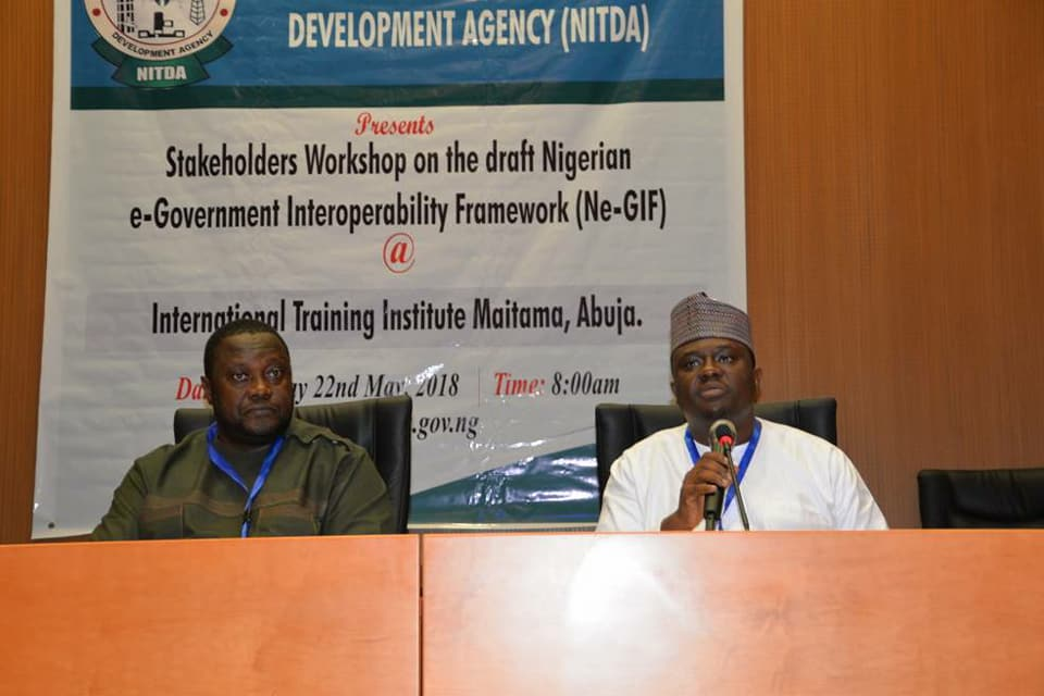 L-R. Jide Awe of NCS and anaother speaker at the workshop