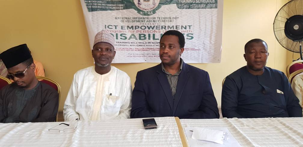 NITDA Team a the the Gombe annual ICT training for PLWDs