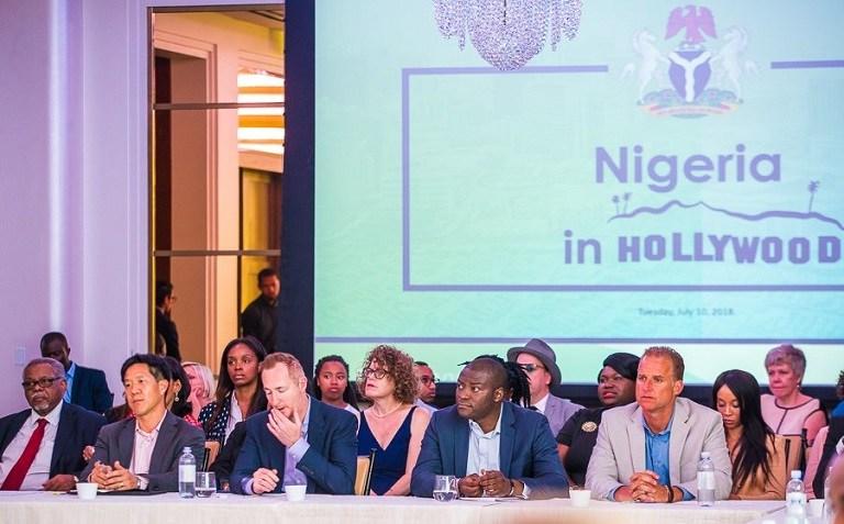 Osibanjo promotes Nigerian entertainment sector at Hollywood