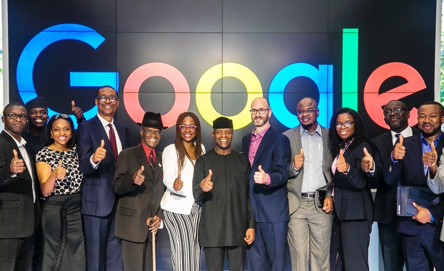 Osinbajo and Nigerien delegation at Google