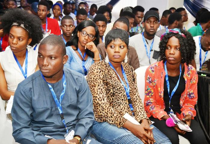 A cross section of students at the event.