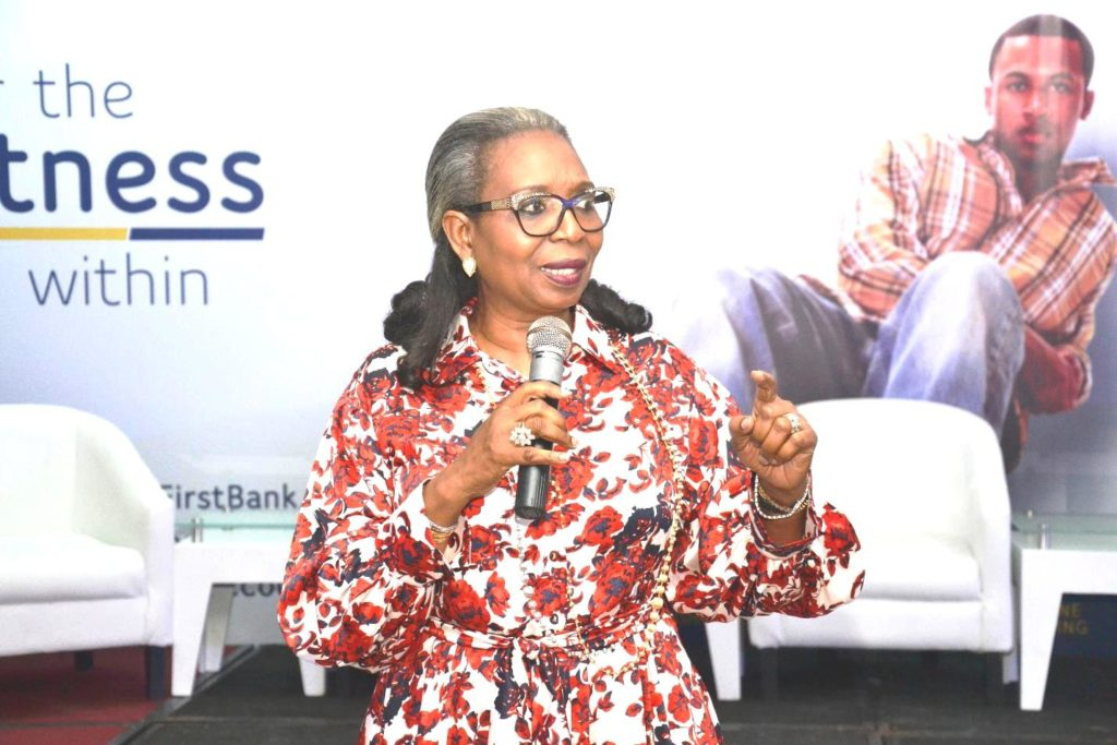 The Chairman, FirstBank, Ibukun Awosika addressing the audience at the event