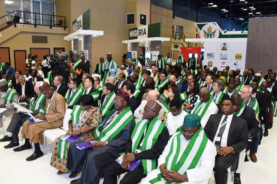 Cross section of participants at the Nigeria Pavilion during the ITU Telecom World 2018.