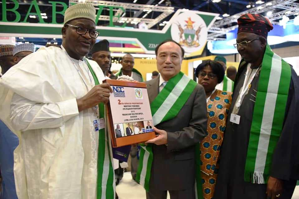 Prof. Umar Garba Danbatta, Executive Vice Chairman, Nigerian Communications Commission; Houlin Zhoa, Secretary General, International Telecommunications Union