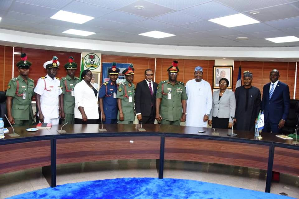 NDA and NCC staff during the visit