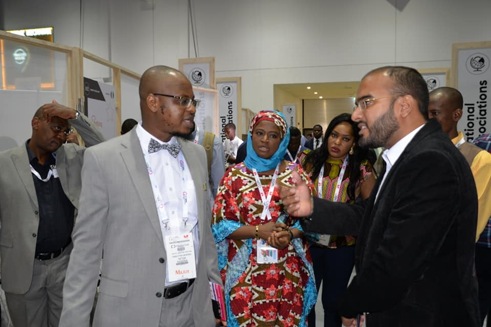 Pantami engages at the GITEX Future Stars Expo Hall in front of the Nigerian Startups section