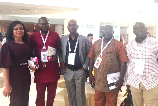 Manjang with some members of Plateau State Delegation at GITEX including CEO of nHub Daser David and CEO of Qitech Ousegun Oruame