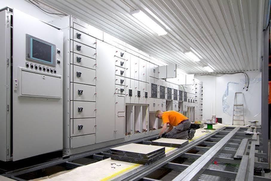 eCentre module prefabrication in Sweden