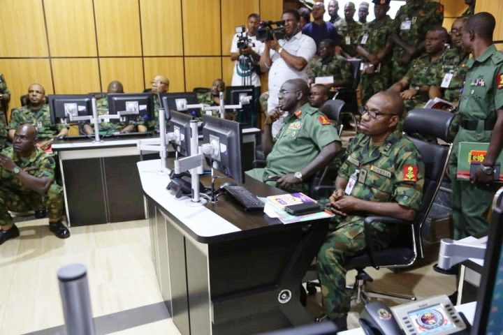 Inside Nigerian Army Situation room