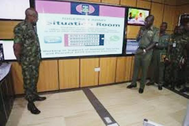 Nigerian Army launches elections monitoring & security situation room as Nigerians vote tomorrow