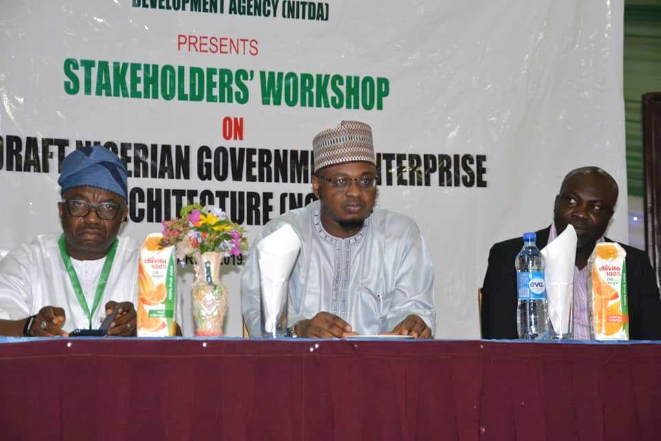 Director General of NITDA, Dr Pantami and stakeholders at public engagement on NGEA)