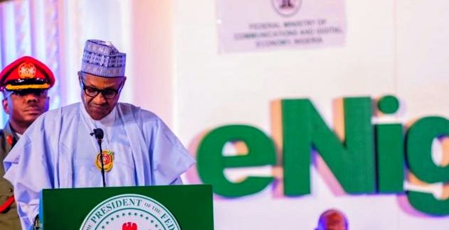 Buhari speaks at eNigeria 2019