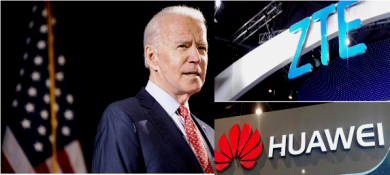 huawei and zte and Biden