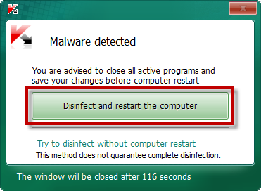 malicious files detected by Kaspersky