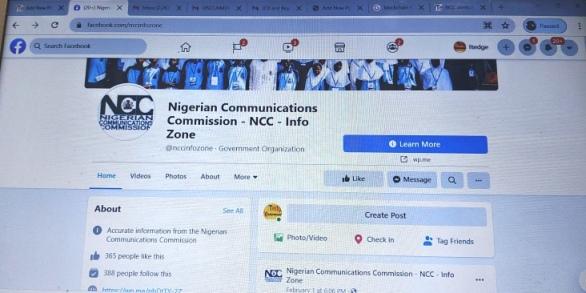 NCC fake Facebook